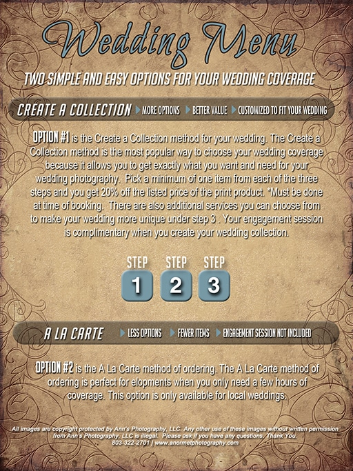 Wedding Pricing Guide