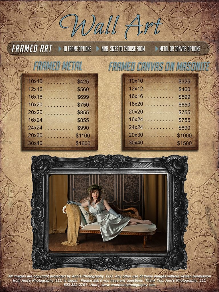 Boudoir pricing guide