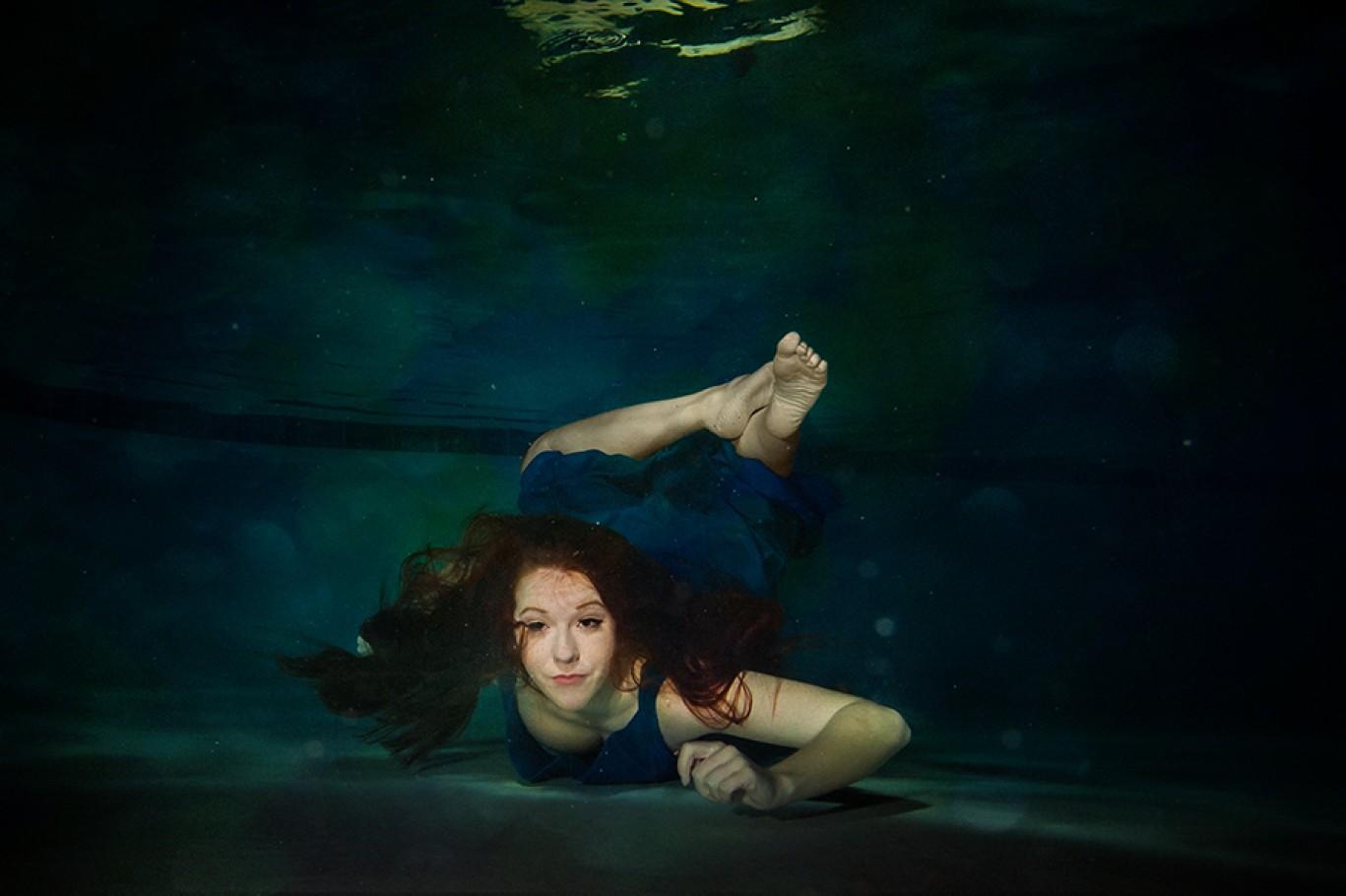 Senior Portraits, Underwater Portraits
