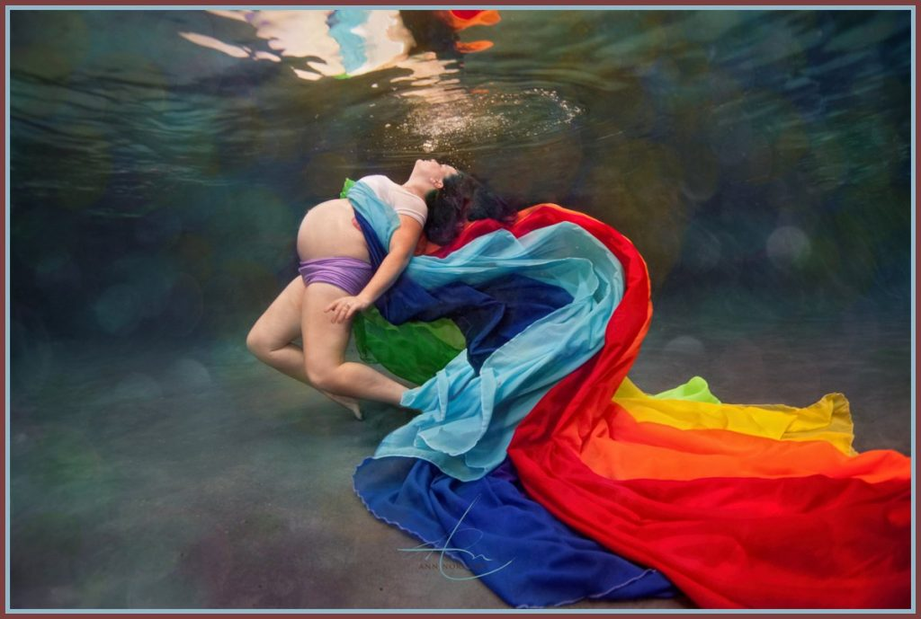 Underwater Maternity - Rainbow Baby - Charlotte Photographer
