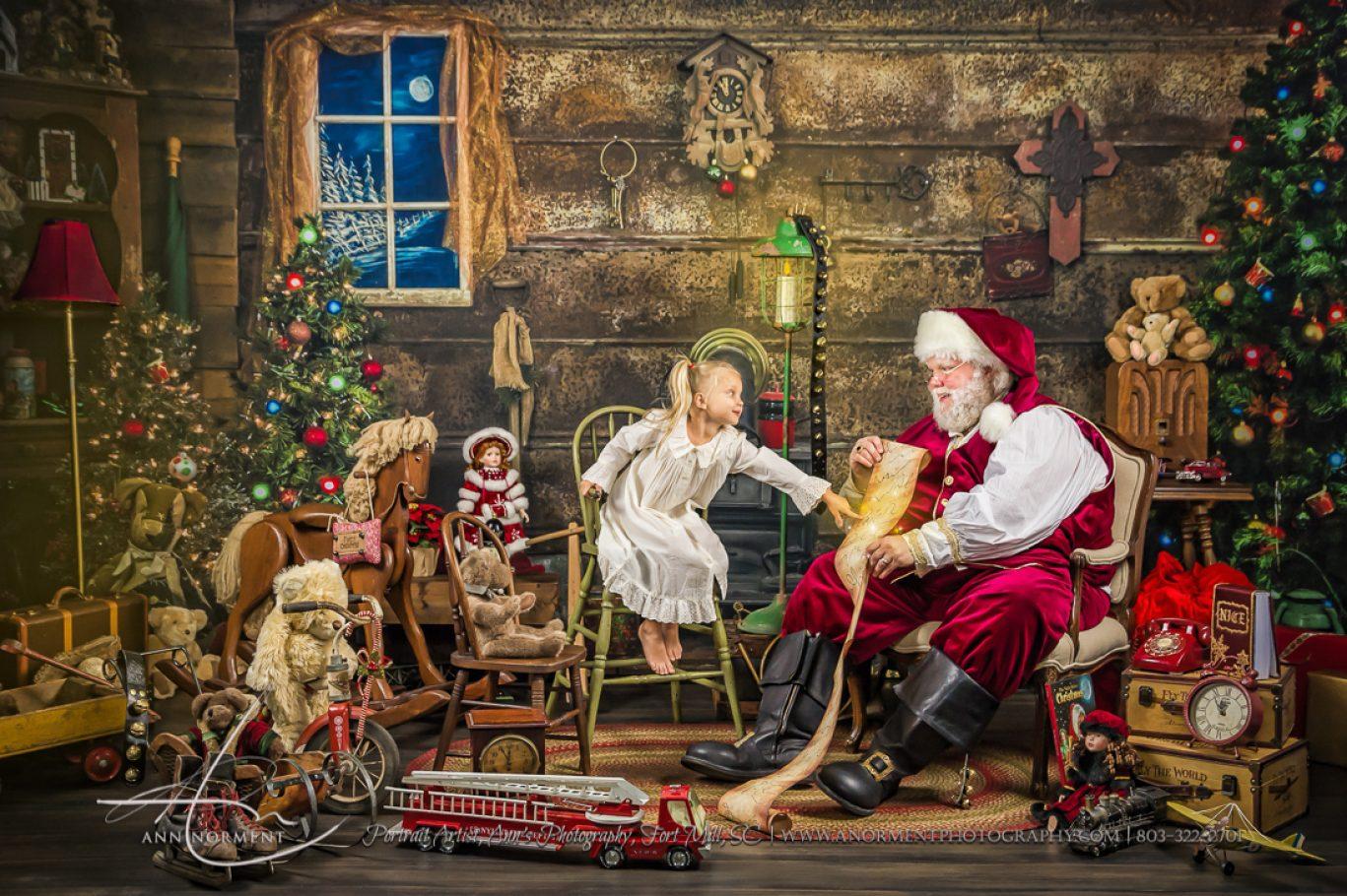 Santa Sessions, Santas Magical Gift, Fort Mill SC, Charlotte NC, Lake Wylie NC, Weddington NC, Lake Norman NC, Asheville NC