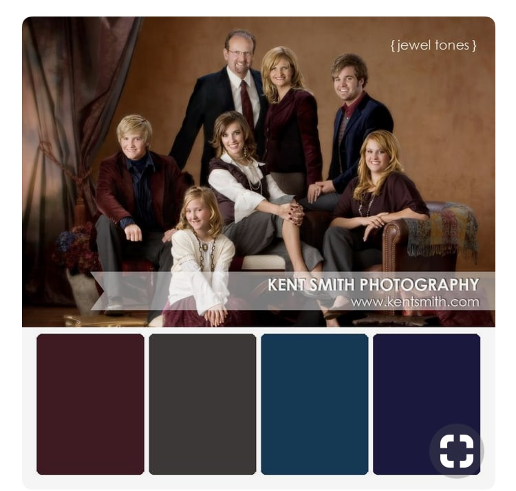 Family Portrait Clothing Color Guide